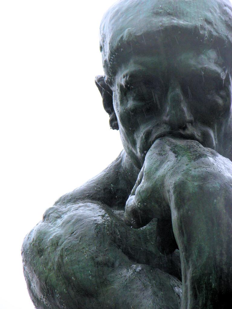The Thinker, by Rodin