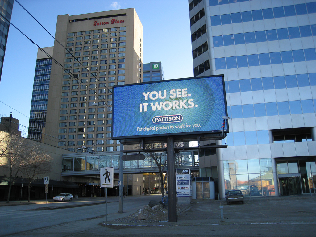Edmonton's first digital billboard?